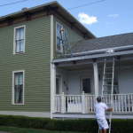 Painters Painting a house